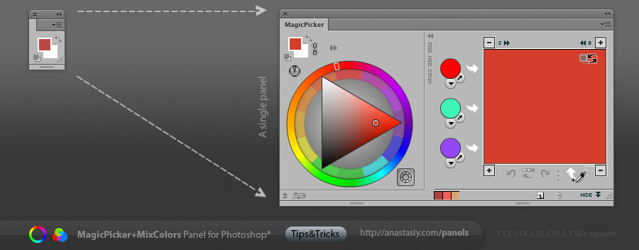 Attach Panels - MagicPicker + MixColors