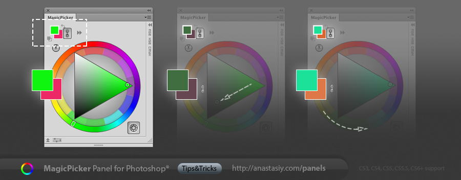 Link foreground and background colors in Adobe Photoshop