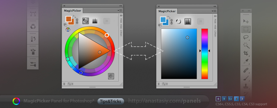 MagicPicker color picking modes