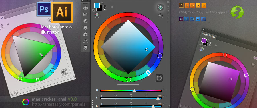 MagicPicker 3.0 - color wheel panel for Photoshop & Illustrator