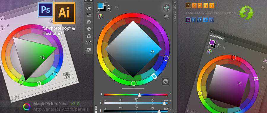 Cgtalk Photoshop Cc 2014 Now Has The Most Advanced Color Wheel Panel