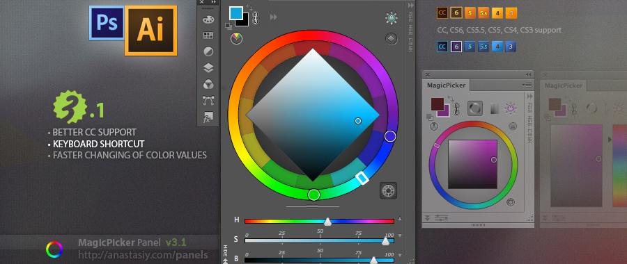 MagicPicker 3.1 color wheel & color picker update!