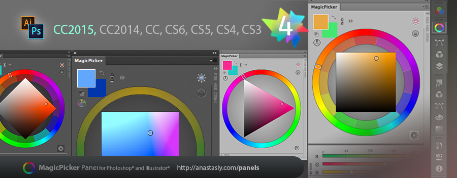 MagicPicker in Photoshop CC 2015 and Illustrator CC 2015