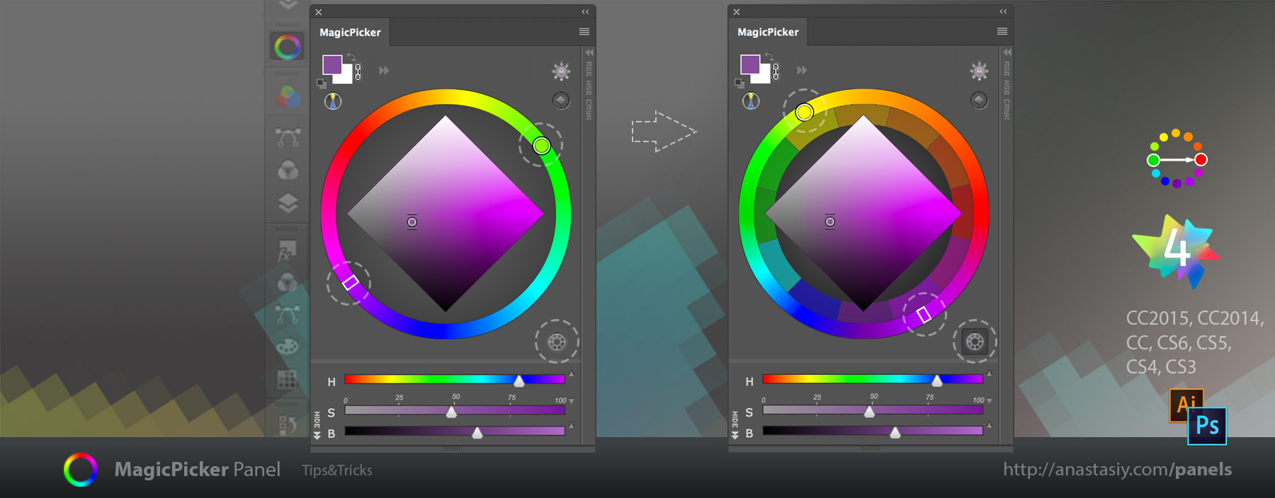 MagicPicker - switch to traditional color wheel