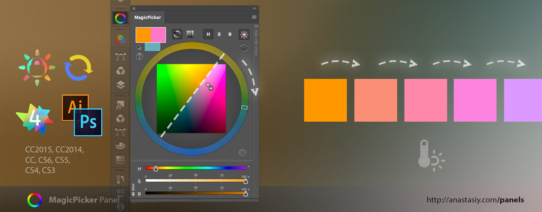 Change color temperature while keeping color's brightness