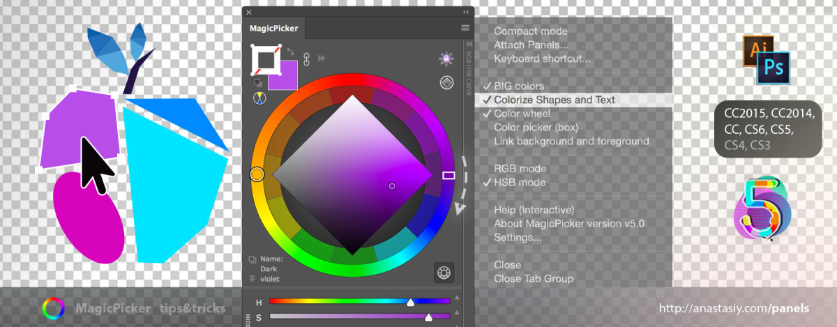 Change color of Stroke & Fill for Shapes in Adobe Photoshop