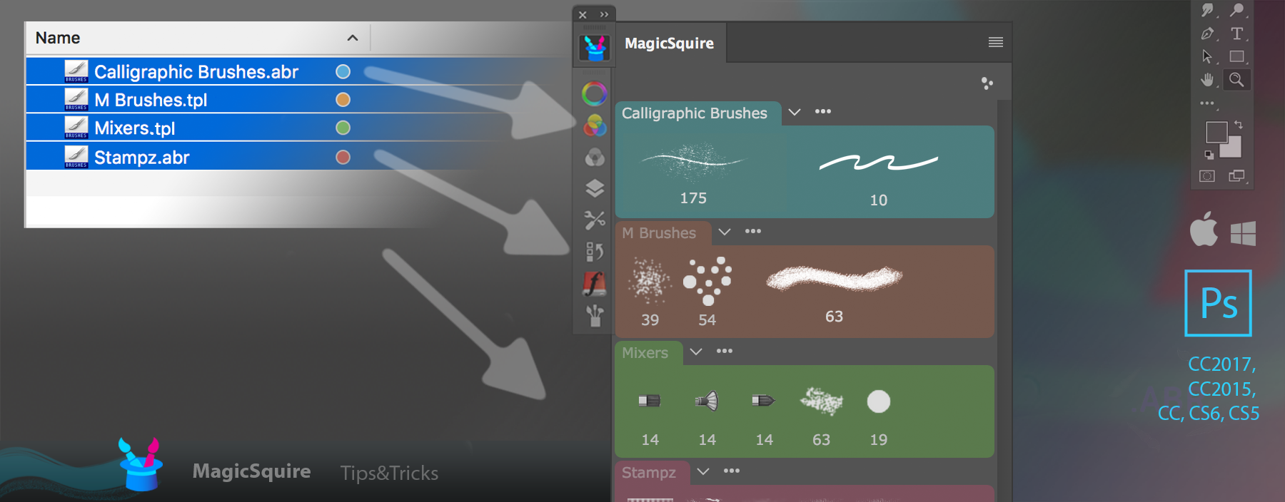 MagicSquire: load brush files into groups