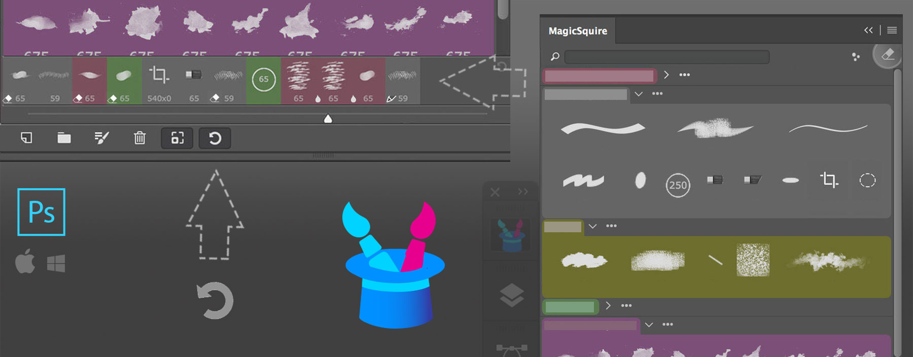 MagicSquire brush manager - detailed Tool History in Photoshop