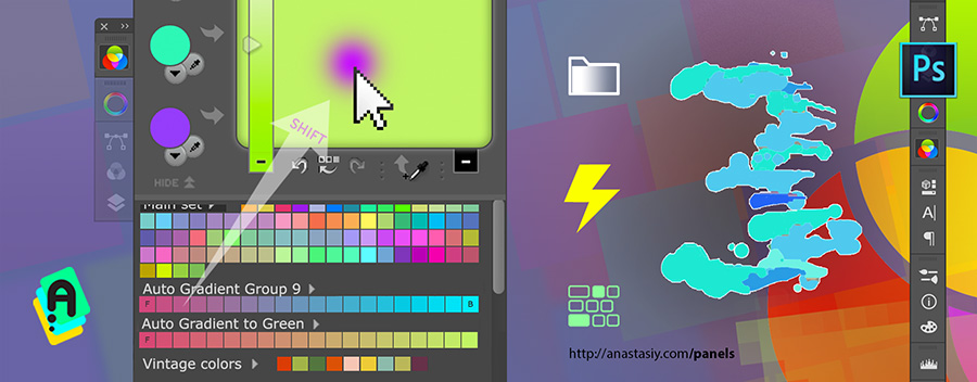 MixColors 3.0: Keyboard Shortcuts for color mixing, auto-gradient groups, more!