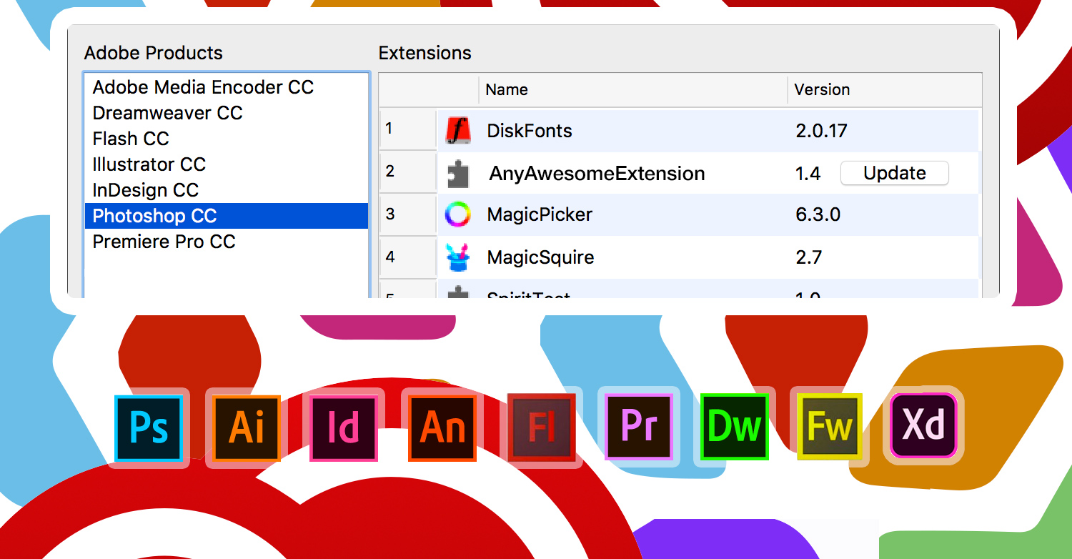 Anastasiy's Extension Manager 3.0 for Adobe software