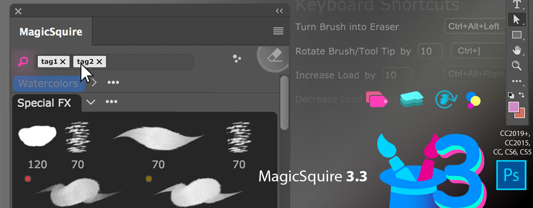 MagicSquire professional brush manager update 3.3
