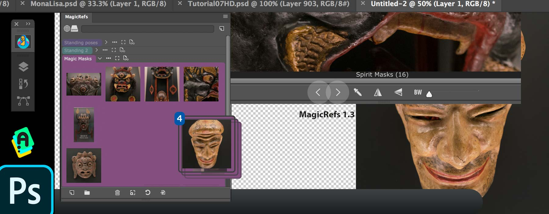 MagicRefs 1.3: improved reference image management in Adobe Photoshop