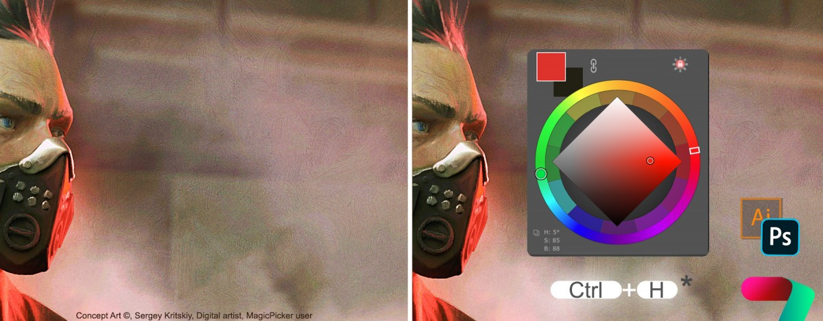 Sticky Color Wheel HUD in MagicPicker