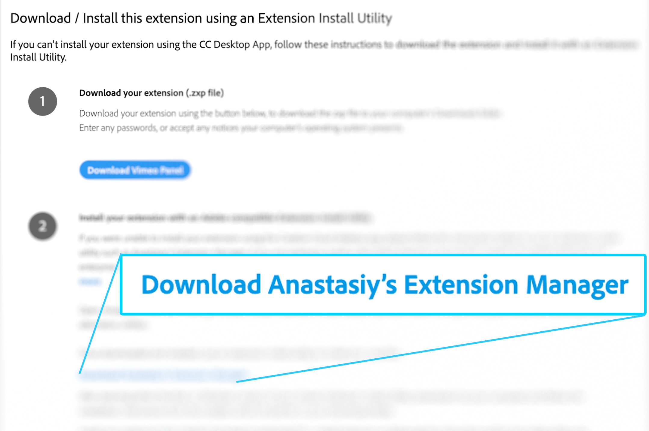 Adobe recommends Anastasiy's Extension Manager to install all extensions