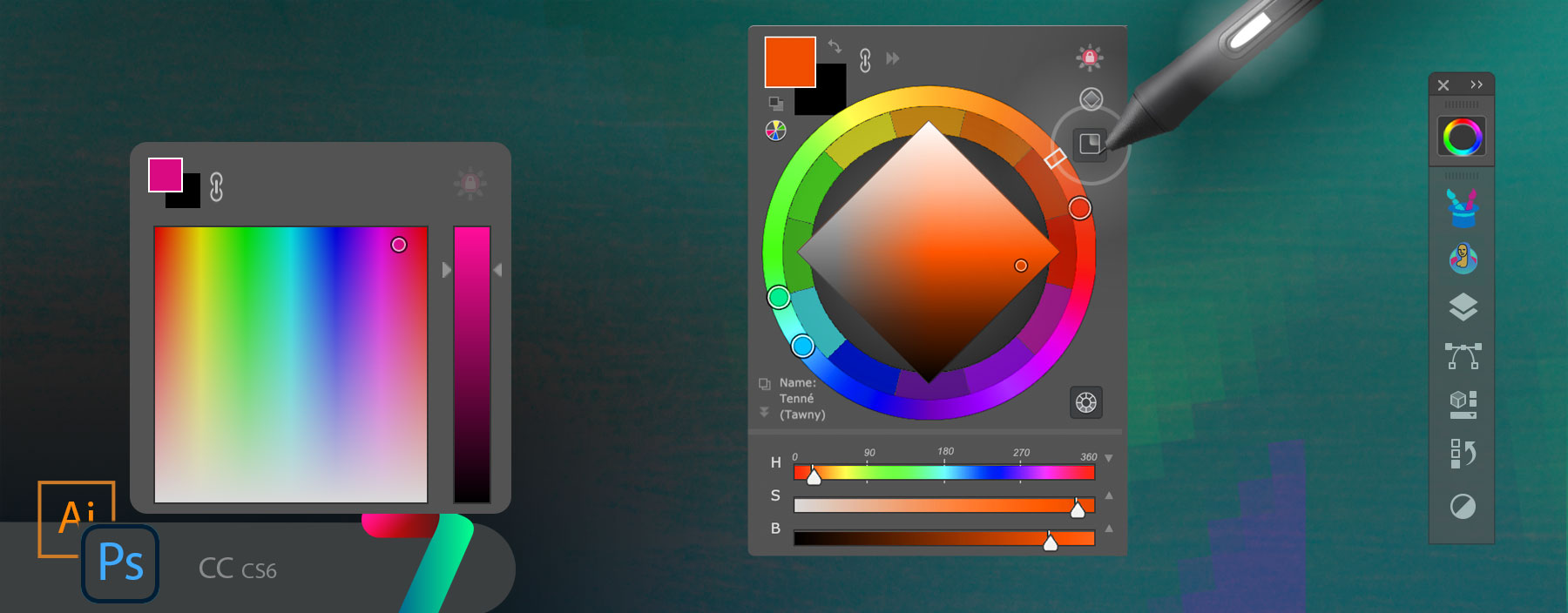 MagicPicker 7: Advanced color picking HUD in Adobe Photoshop
