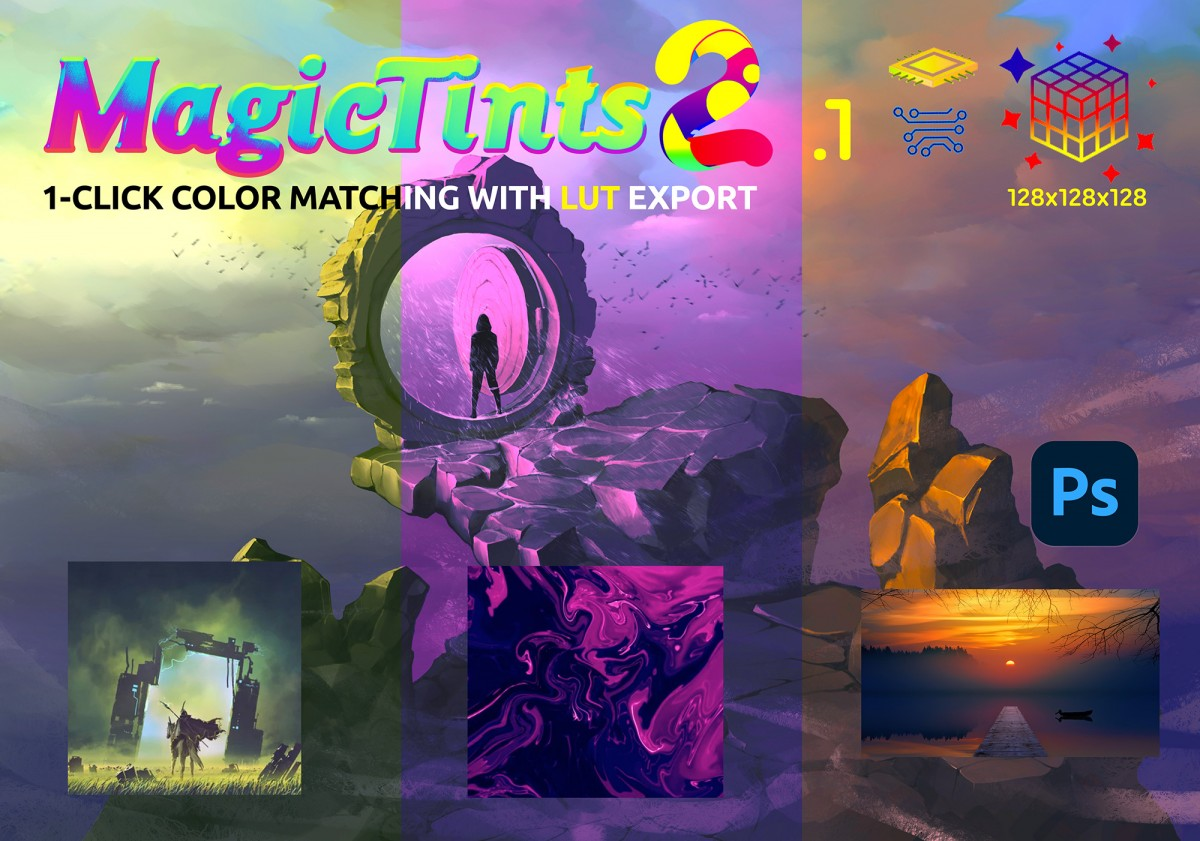 MagicTints 2.1 - faster LUT, up to x128 export, more