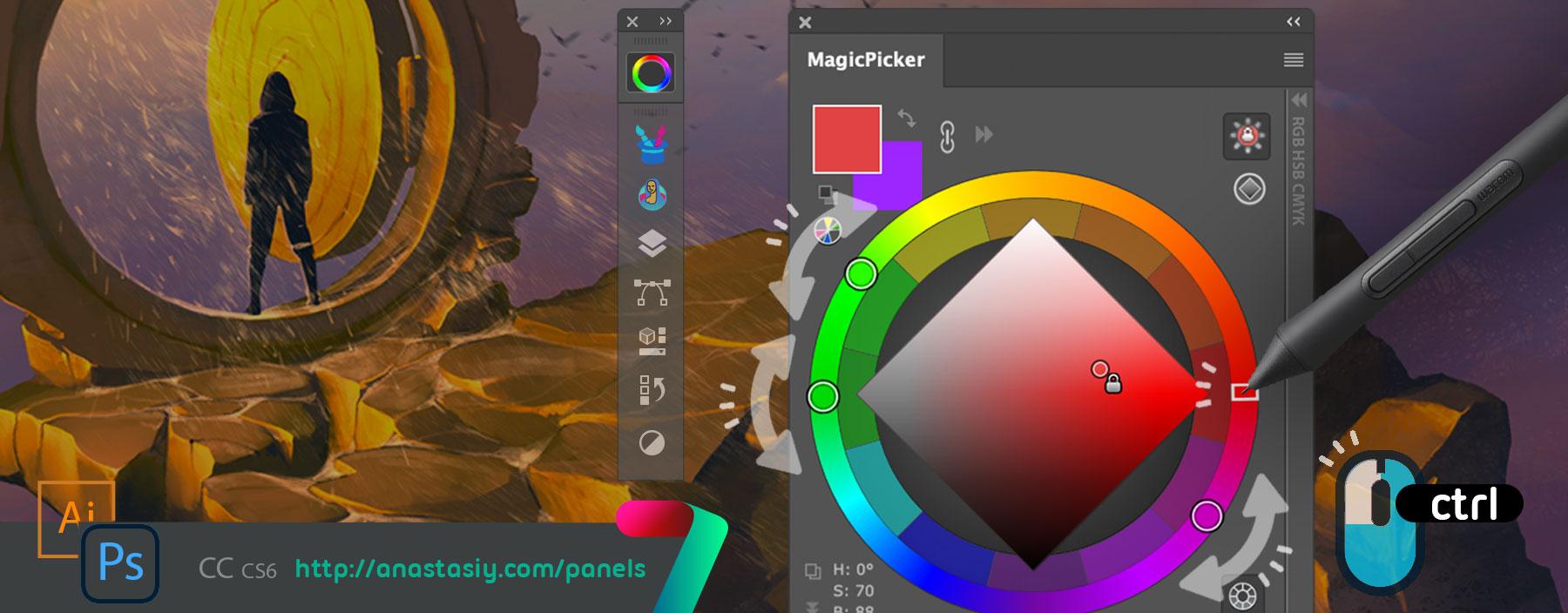 MagicPicker - adjust Color Schemes in Photoshop or Illustrator