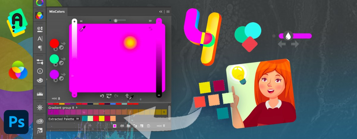 MixColors 4.0 just landed! New Design, Extract colors from image, Naming, Collections, more!