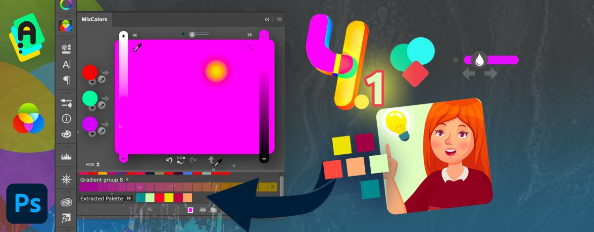 MixColors 4.1 update! Better palette extraction from photos, better UI